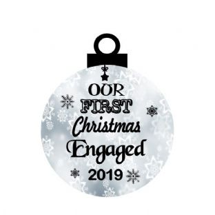 1st Christmas Engaged Acrylic Christmas Ornament Decoration